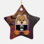 Halloween - Just a Lil Spooky - Pomeranian Christmas Ornaments