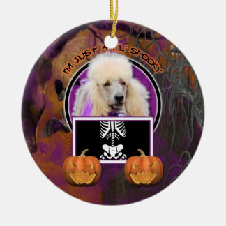 Halloween - Just a Lil Spooky - Poodle - Champagne Ceramic Ornament