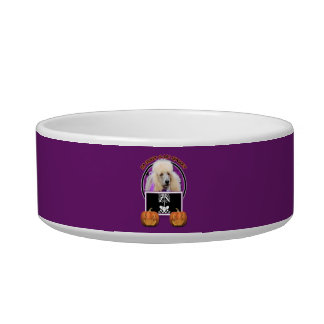 Halloween - Just a Lil Spooky - Poodle - Champagne Cat Food Bowl