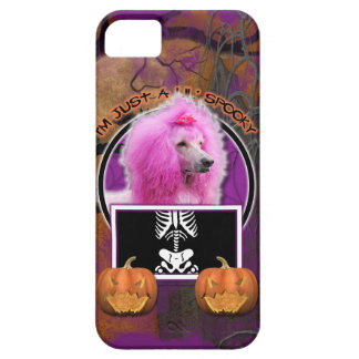 Halloween - Just a Lil Spooky - Poodle - Pink iPhone 5 Cases