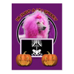 Halloween - Just a Lil Spooky - Poodle - Pink Postcard