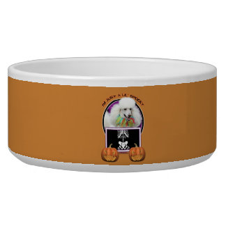 Halloween - Just a Lil Spooky - Poodle - White Dog Bowls