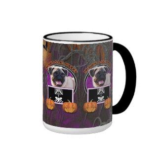 Halloween - Just a Lil Spooky - Pug Ringer Mug