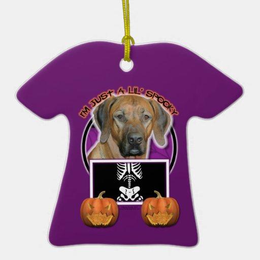 Halloween - Just a Lil Spooky  Rhodesian Ridgeback Double-Sided T-Shirt Ceramic Christmas Ornament