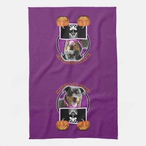 Halloween - Just a Lil Spooky - Rottie - SambaParT Towels