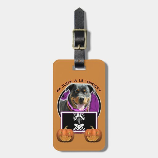 Halloween - Just a Lil Spooky - Rottie - SambaParT Tags For Bags