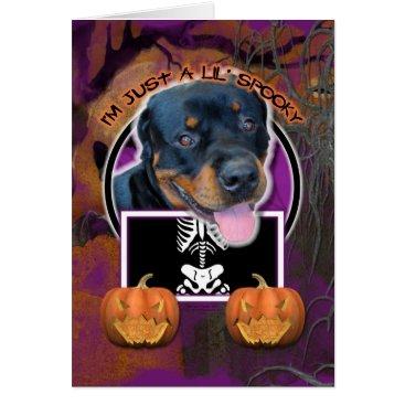 Halloween Themed Halloween - Just a Lil Spooky - Rottweiler Card