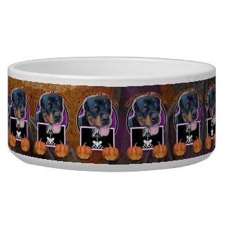 Halloween - Just a Lil Spooky - Rottweiler Pet Food Bowl