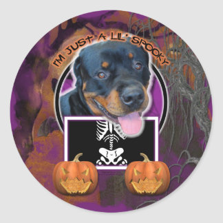 Halloween - Just a Lil Spooky - Rottweiler Sticker