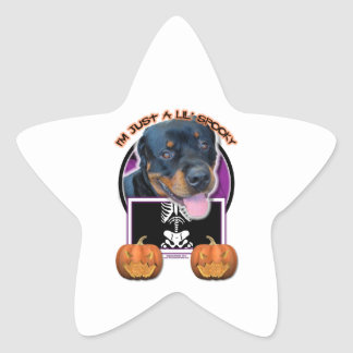 Halloween - Just a Lil Spooky - Rottweiler Stickers