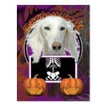 Halloween - Just a Lil Spooky - Saluki Postcards