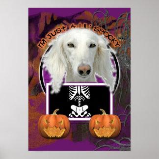 Halloween - Just a Lil Spooky - Saluki Poster