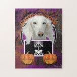 Halloween - Just a Lil Spooky - Saluki Puzzle