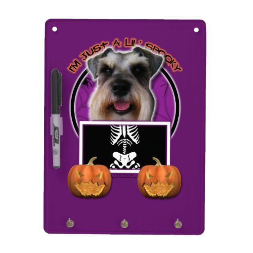 Halloween - Just a Lil Spooky - Schnauzer Dry Erase Boards