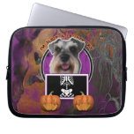Halloween - Just a Lil Spooky - Schnauzer Laptop Computer Sleeves