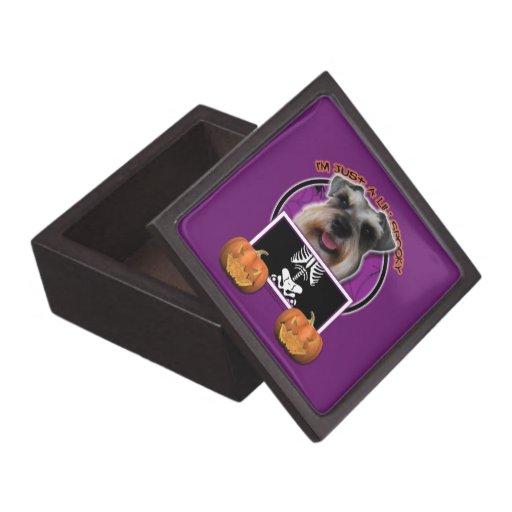 Halloween - Just a Lil Spooky - Schnauzer Premium Keepsake Boxes