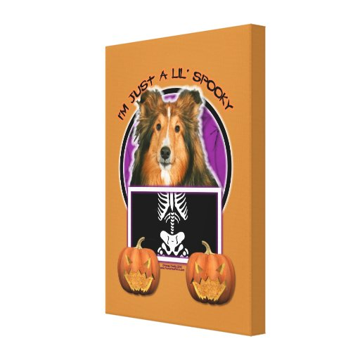 Halloween - Just a Lil Spooky - Sheltie Gallery Wrapped Canvas