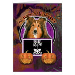 Halloween - Just a Lil Spooky - Sheltie Greeting Card