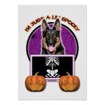 Halloween - Just a Lil Spooky - Shepherd Poster