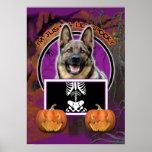 Halloween - Just a Lil Spooky - Shepherd Print