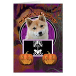 Halloween - Just a Lil Spooky - Shiba Inu Greeting Cards