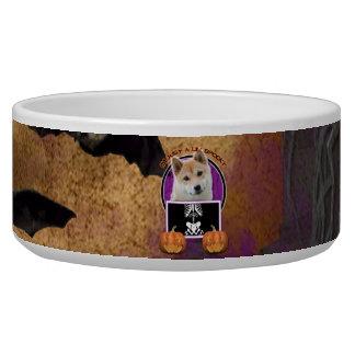 Halloween - Just a Lil Spooky - Shiba Inu Pet Food Bowl