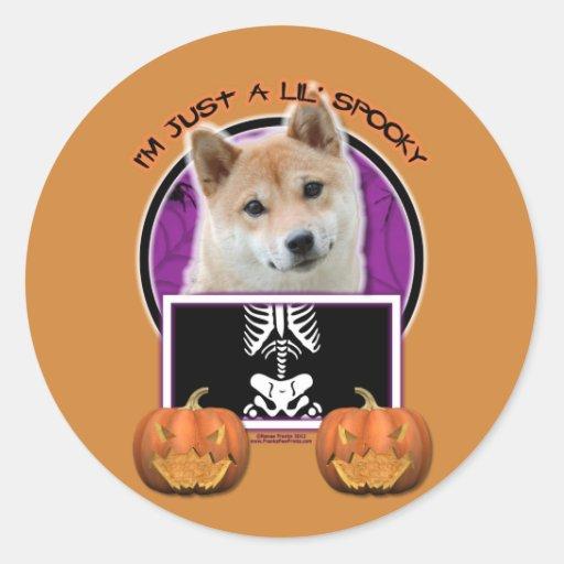 Halloween - Just a Lil Spooky - Shiba Inu Sticker