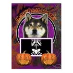 Halloween - Just a Lil Spooky - Shiba Inu - Yasha Post Cards