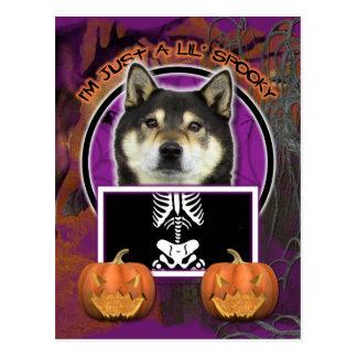 Halloween - Just a Lil Spooky - Shiba Inu - Yasha Postcard