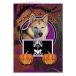 Halloween -Just a Lil Spooky Siberian Husky Copper Card
