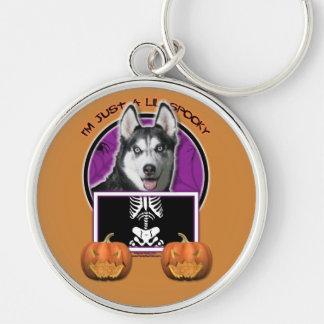 Halloween - Just a Lil Spooky - Siberian Husky Key Chains