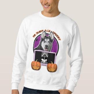 Halloween - Just a Lil Spooky - Siberian Husky Pullover Sweatshirt