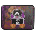 Halloween - Just a Lil Spooky - Springer Spaniel Sleeve For MacBooks