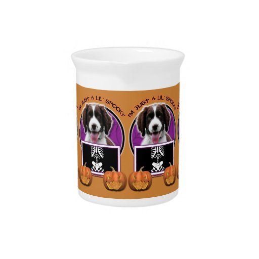 Halloween - Just a Lil Spooky - Springer Spaniel Beverage Pitchers