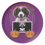 Halloween - Just a Lil Spooky - Springer Spaniel Party Plates