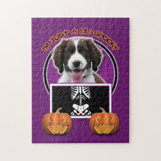 Halloween - Just a Lil Spooky - Springer Spaniel Jigsaw Puzzles