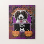 Halloween - Just a Lil Spooky - Springer Spaniel Jigsaw Puzzle