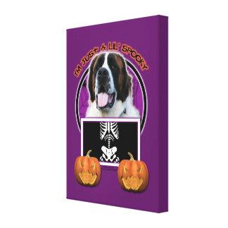 Halloween - Just a Lil Spooky - St Bernard - Mae Canvas Prints