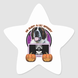 Halloween - Just a Lil Spooky - St Bernard - Mae Star Sticker