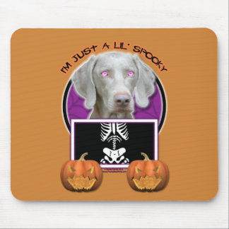 Halloween - Just a Lil Spooky - Weimaraner Mouse Pad