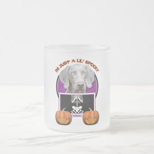 Halloween - Just a Lil Spooky - Weimaraner Coffee Mugs