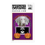 Halloween - Just a Lil Spooky - Weimaraner Postage Stamps
