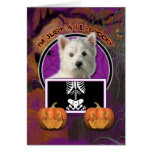 Halloween - Just a Lil Spooky -Westie Greeting Card