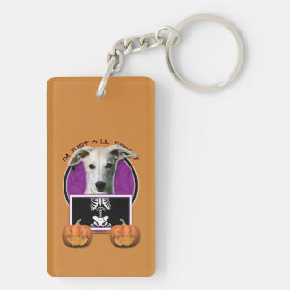Halloween - Just a Lil Spooky - Whippet Rectangle Acrylic Keychains