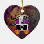 Halloween - Just a Lil Spooky - Whippet Christmas Tree Ornament