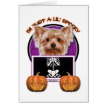 Halloween - Just a Lil Spooky - Yorkie Greeting Card