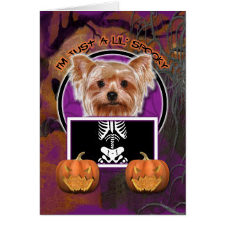 Halloween - Just a Lil Spooky - Yorkie Card