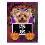 Halloween - Just a Lil Spooky - Yorkie Postcard