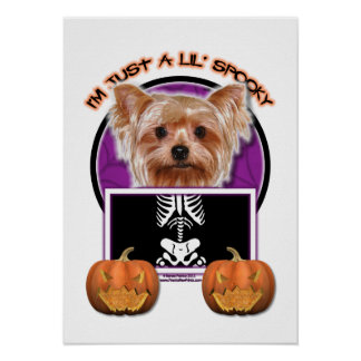 Halloween - Just a Lil Spooky - Yorkie Poster