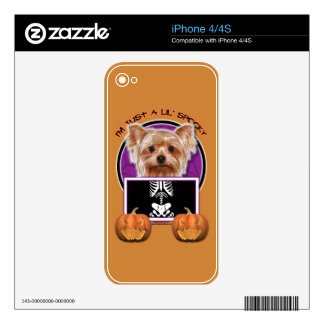 Halloween - Just a Lil Spooky - Yorkie Skins For iPhone 4S